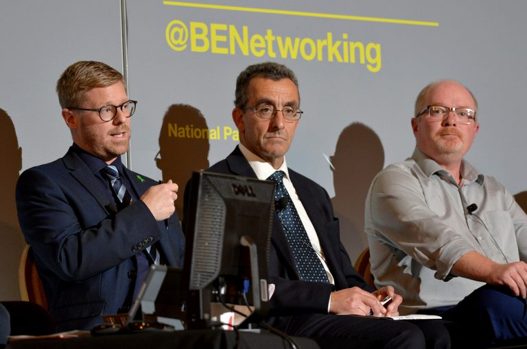 John Welch, Keith Heard and Steve Tyree Construction Frameworks Conference, Kensington Town Hall. 02.10.19