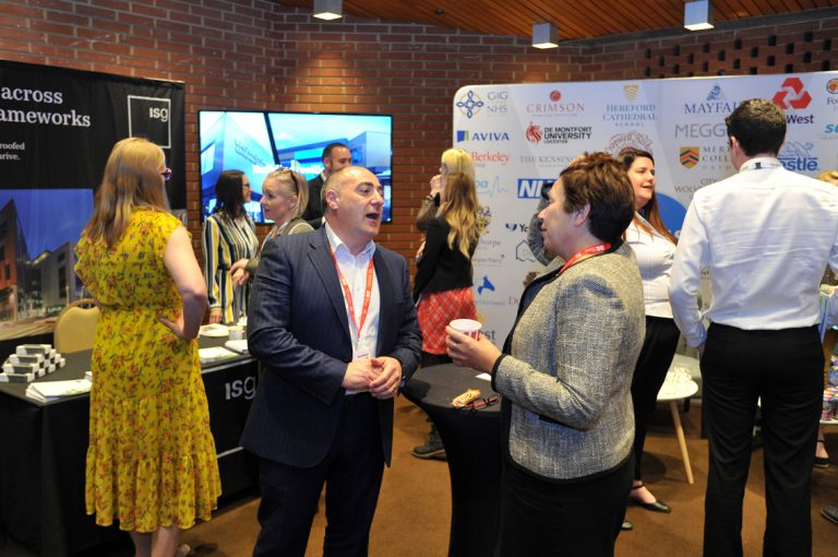 Networking at Kensington Town Hall Construction Frameworks Conference, Kensington Town Hall. 02.10.19