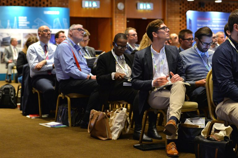 Attendee's take the day in Construction Frameworks Conference, Kensington Town Hall. 02.10.19