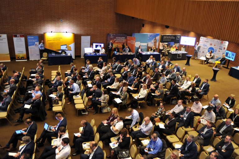 The crowd at Construction Frameworks Conference, Kensington Town Hall. 02.10.19