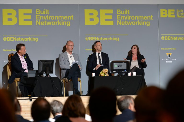 Frameworks Providers Panel, Lisa Bliss, Robbie Blackhurst and Simon Toplass Construction Frameworks Conference, Kensington Town Hall. 02.10.19