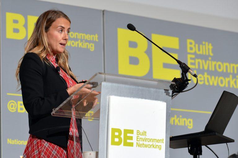 Emma Hesbrook of University of Construction Frameworks Conference, Kensington Town Hall. 02.10.19