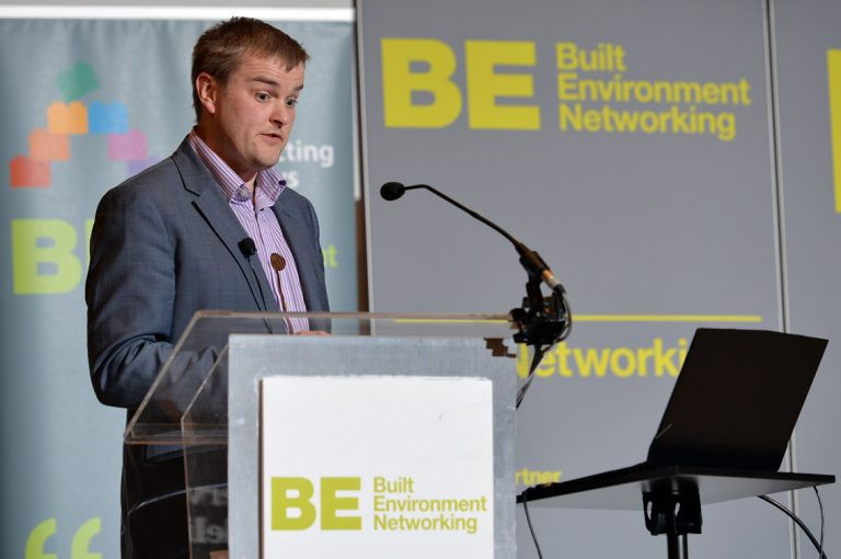 Chris Clarke of Scape Group Construction Frameworks Conference, Kensington Town Hall. 02.10.19