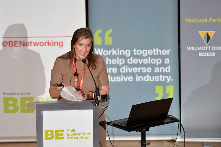 Sara Lawton of Impact Framework at Construction Frameworks Conference, Kensington Town Hall. 02.10.19