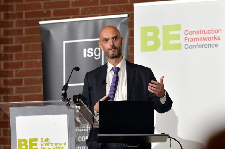 Paul Paskins of Southampton City Council Construction Frameworks Conference, Kensington Town Hall. 02.10.19
