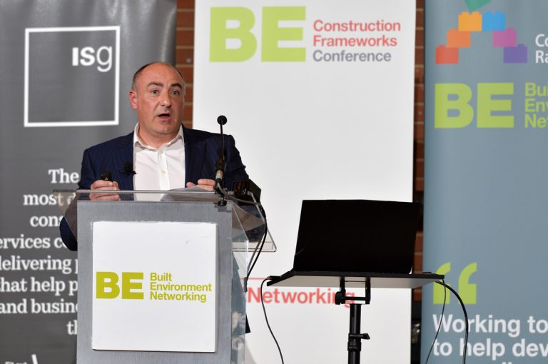 Mike Tyler of North West Construction Hub Construction Frameworks Conference, Kensington Town Hall. 02.10.19