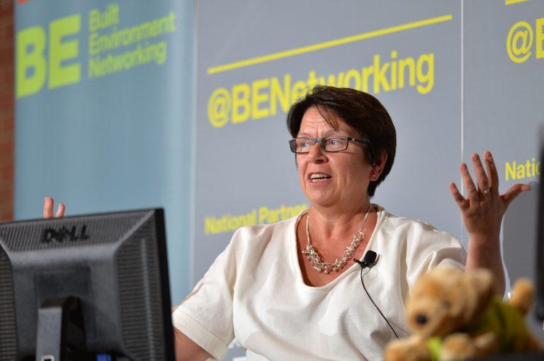 Debbie Hobbs of ISG at Construction Frameworks Conference, Kensington Town Hall. 02.10.19