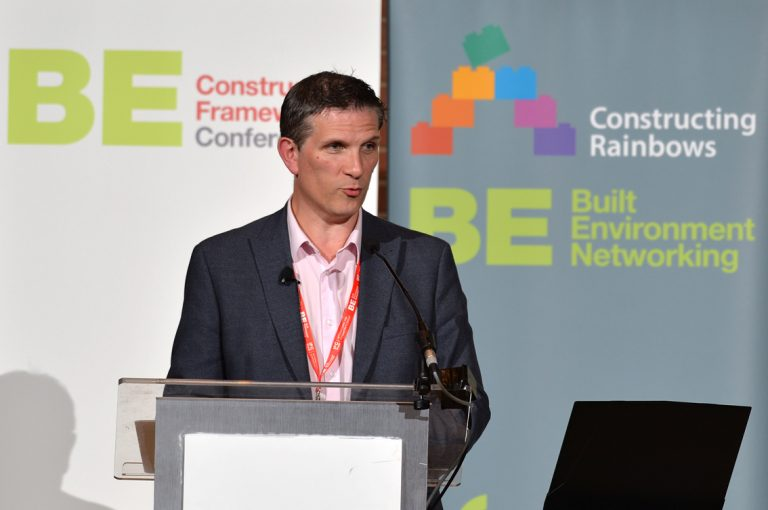 Matt Carrington-Moore of Scape Group Construction Frameworks Conference, Kensington Town Hall. 02.10.19
