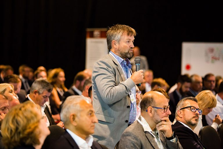 An Attendee asks the Panel a question at West Yorkshire Economic Growth Conference 2018