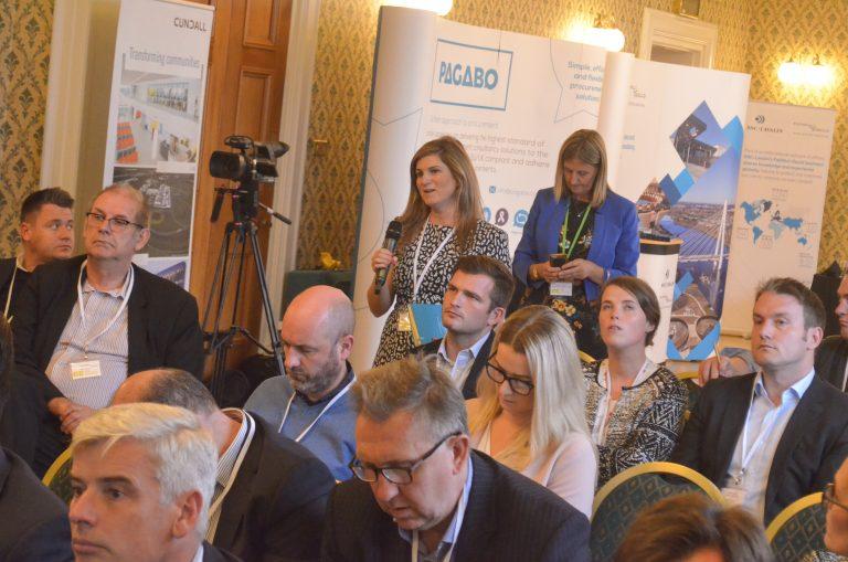 Attendee asks John Glass a Question at Northern Ireland Development Plans 2018