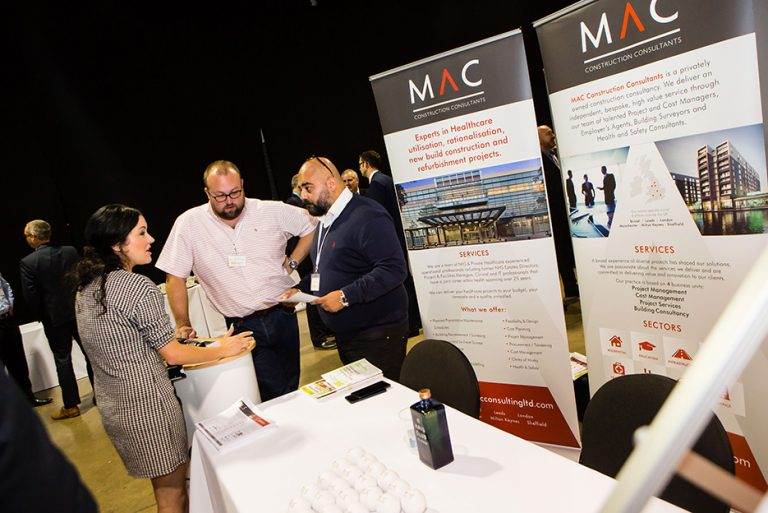 Attendees at MAC Construction Consulting's Stand at West Yorkshire Economic Growth Conference 2018