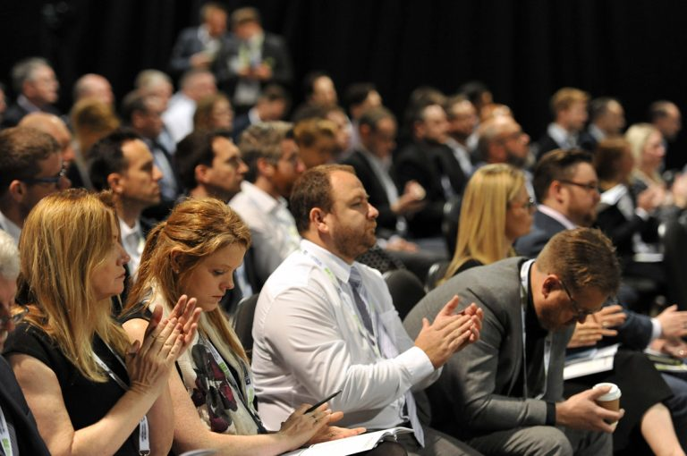 Attendees-clap-the-speakers-West-Yorkshire-Development-Conference.