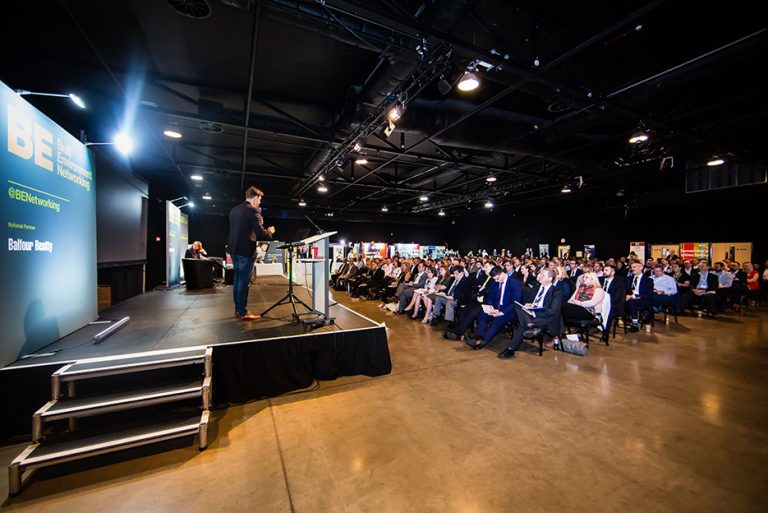 Attendees watch Tom Youngers Presentation at West Yorkshire Economic Growth Conference 2018