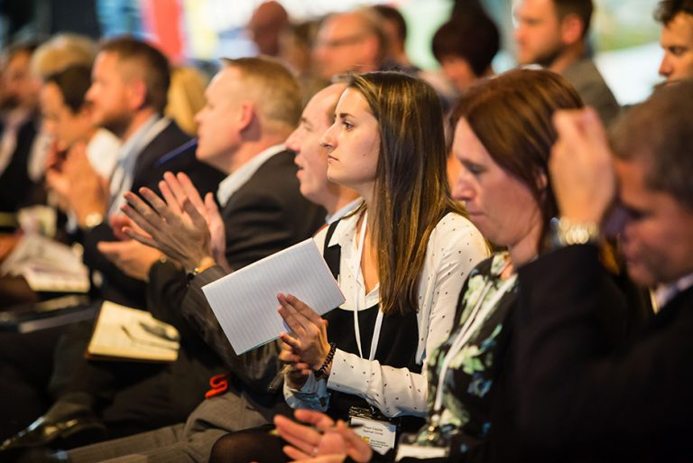 Attendees watch the speakers at West Yorkshire Economic Growth Conference 2018 (2)