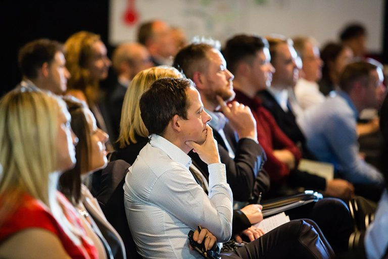 Attendees watch the speakers at West Yorkshire Economic Growth Conference 2018