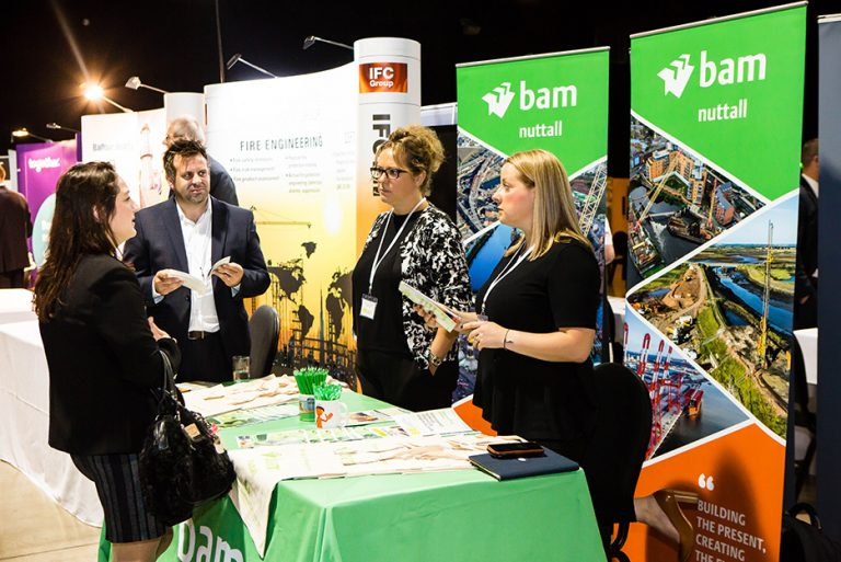 Bam Construction Stand at West Yorkshire Economic Growth Conference 2018 Built Environment Networking