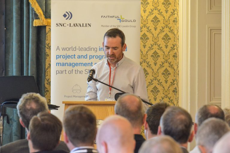 Damien Toner of Queens University speaks at Northern Ireland Development Plans 2018