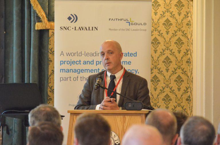 David Mackey addresses the crowd at Northern Ireland Development Plans 2018