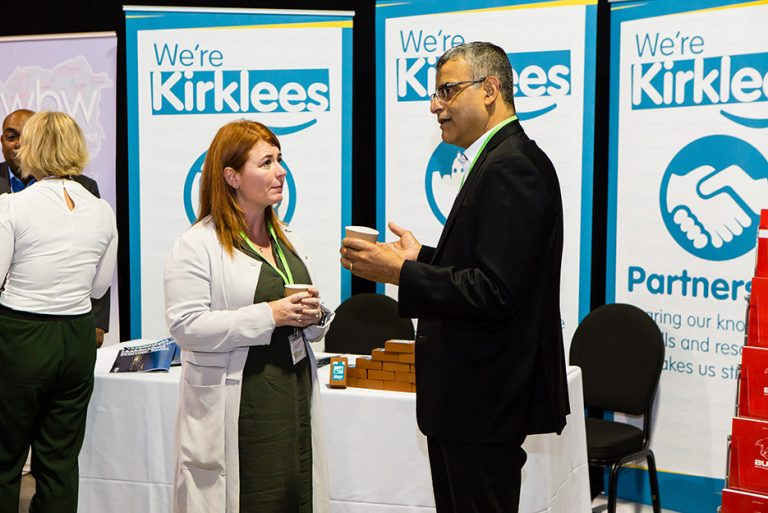 Naz Parkar of Kirklees Council at his Stand at West Yorkshire Economic Growth Conference 2018