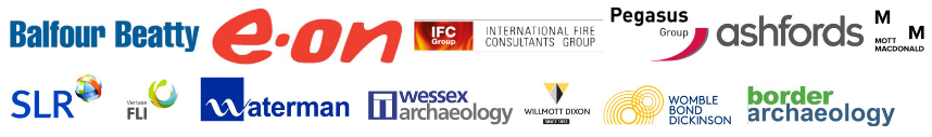 Logos Partners E.ON IFC Group Pegasus Group Balfour Beatty Ashfords Mott MacDonald Versate Waterman Wessex Archeaology Womble Bond Dickinson Willmott Dixon Border