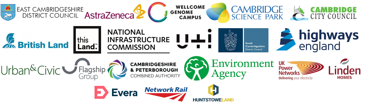 Logos Sponsors Wellcome Genome Campus Cambridge Science U+I Council AstraZeneca National Infrastructure Commission NIC