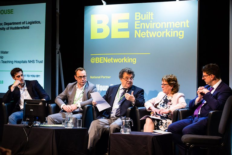 The Panel Discuss a question at West Yorkshire Economic Growth Conference 2018