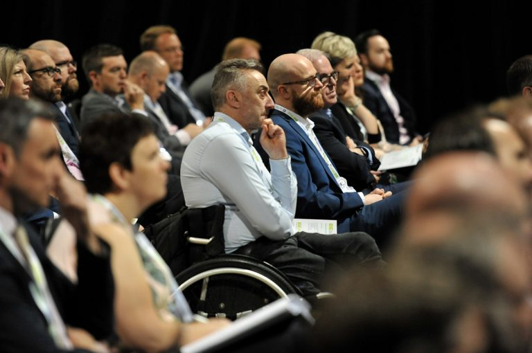 The-crowd-watches-on-as-the-speakers-present-West-Yorkshire-Development-Conference