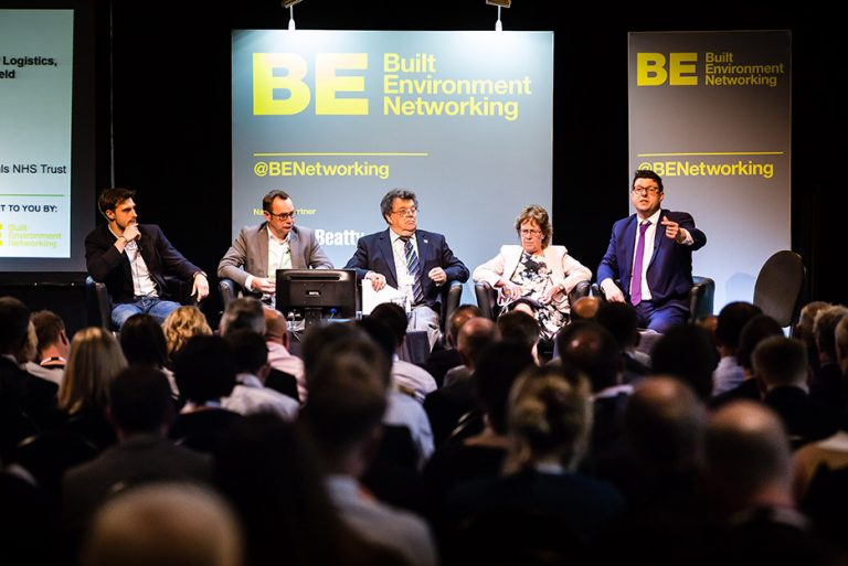 Tom Younger, Neil Dewis, Colin Bamford, Judith Blake and Henri Murison Answer Questions as a panel at West Yorkshire Economic Growth Conference 2018