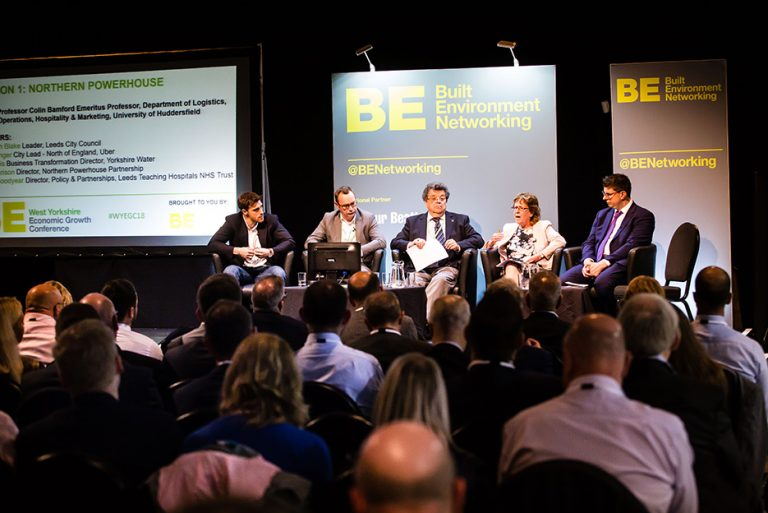 Tom Younger, Neil Dewis, Colin Bamford, Judith Blake and Henri Murison Speak at West Yorkshire Economic Growth Conference 2018