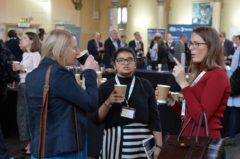 Attendee's discuss the day West of England Development Conference, Bristol.08.10.19
