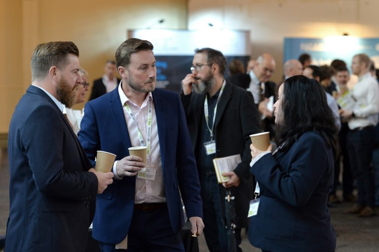 Conversing between attendee's at West of England Development Conference, Bristol.08.10.19