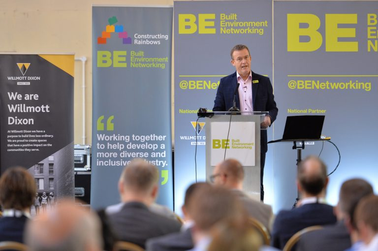 Phil Laycock of Built Environment Networking at West of England Development Conference, Bristol.08.10.19
