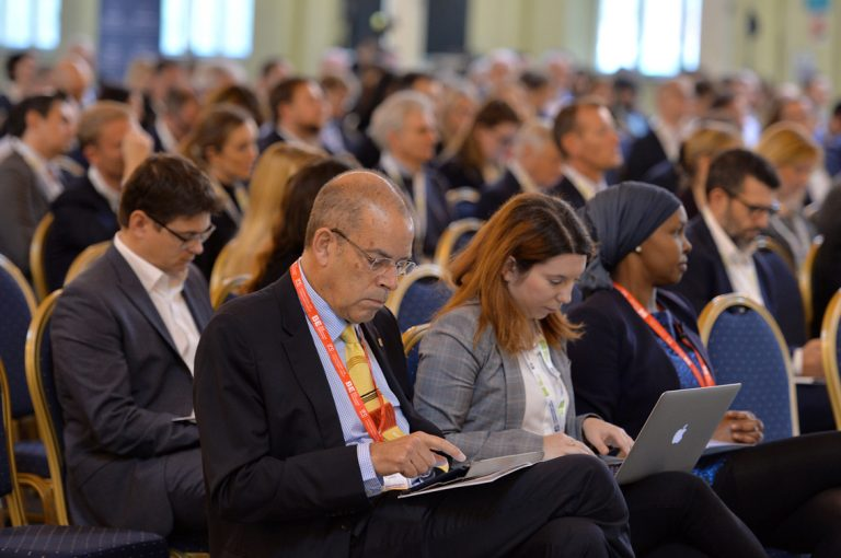 Attendee's make notes at West of England Development Conference, Bristol.08.10.19