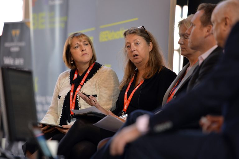 Councillor Dine Romero makes a point at West of England Development Conference, Bristol.08.10.19