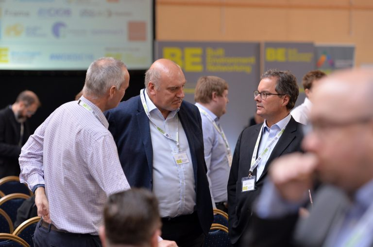 Attendee's discuss the happenings of the day West of England Development Conference, Bristol.08.10.19