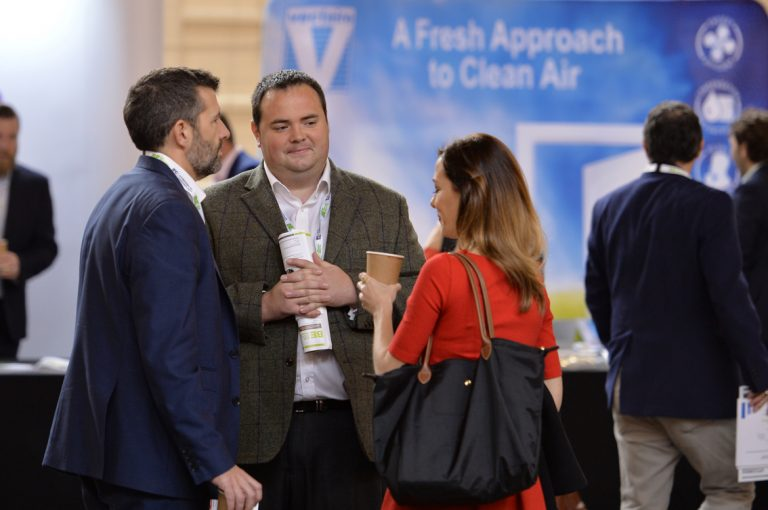 Attendee's discuss business at West of England Development Conference, Bristol.08.10.19