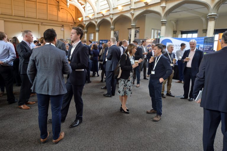 Networking in the Brunel Passenger shed West of England Development Conference, Bristol.08.10.19