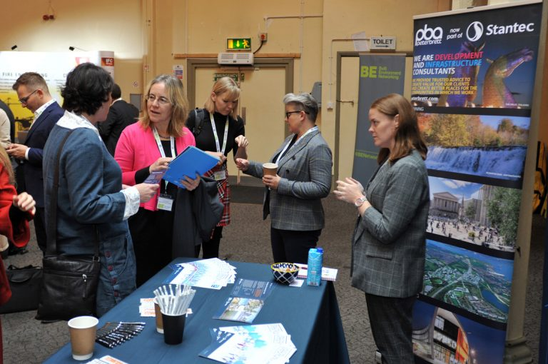 Attendee's check out the stands at West of England Development Conference, Bristol.08.10.19