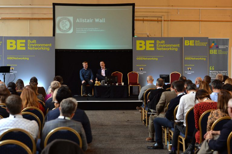 Phil Laycock Leads the Question panel for Alistair Wall of Bristol City Youth Council West of England Development Conference, Bristol.08.10.19