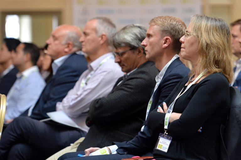 Attendee's watch Guy Orpen present at West of England Development Conference, Bristol.08.10.19