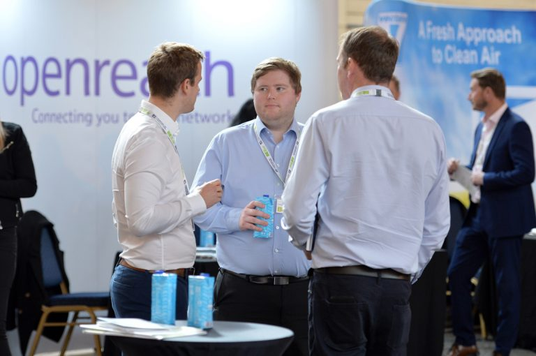 Attendee's discuss the day atWest of England Development Conference, Bristol.08.10.19