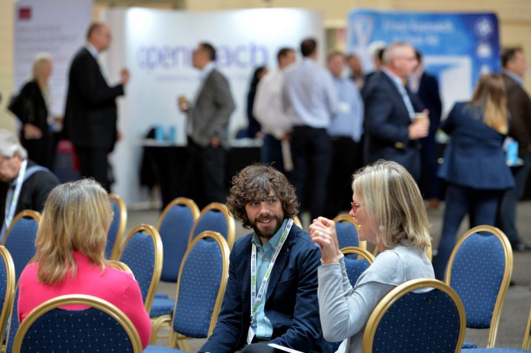 Networking in Bristol at the Brunel PassnWest of England Development Conference, Bristol.08.10.19