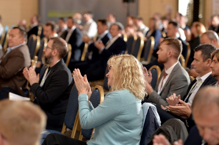 Attendee's applaud the crowd at West of England Development Conference, Bristol.08.10.19