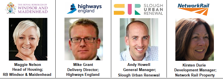 Highways England Mike Grant Andy Howell Slough Urban Renewal Morgan Sindall Network Rail Property Kirsten Drurie Windsor Council