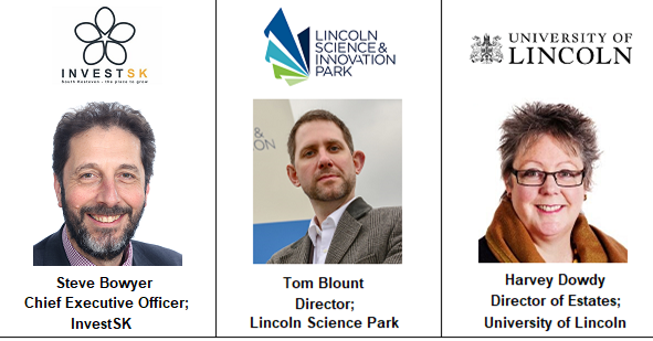 Speakers Steve Bowyer Invest SK South Kesteven Development Inward Investment Lincoln lincolnshire event university estate expansion property campus science innovation boult tom