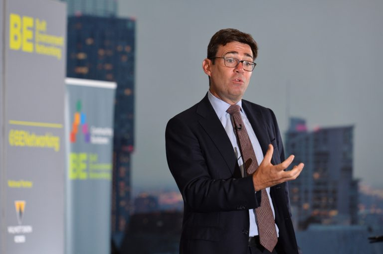 Andy-Burnham-addressing-the-crowd-at-Greater-Manchester-Development-Conference-2019