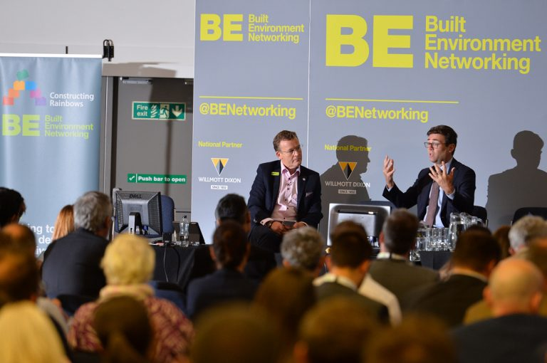 Andy-Burnham-and-Phil-Laycock-Greater-Manchester-Development-Conference-2019