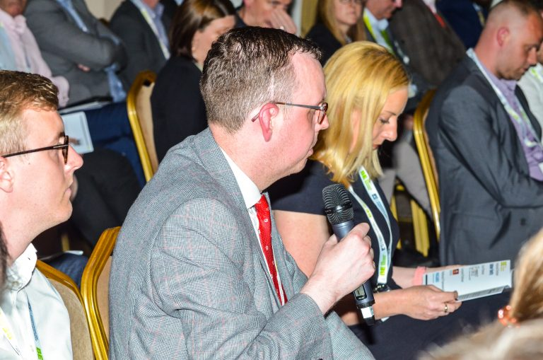 Attendee asks the delegates a question at Greater Manchester Development Plans 2019