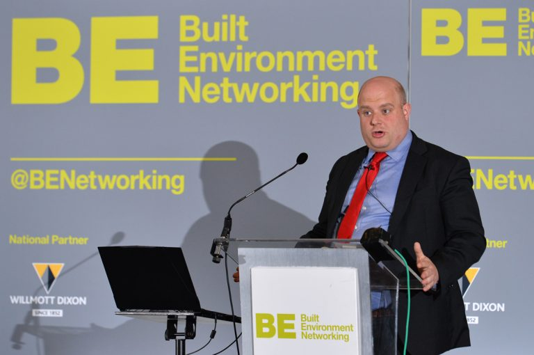 Liam-Brooker-of-HS2-speaks-at-Greater-Manchester-Development-Conference-2019
