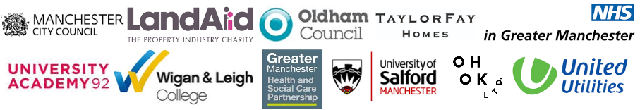 Greater Manchester LandAid Manchester City Council Craig Gaskell UA92 University College Wigan Leigh Anna Dawe Helen Marshall Salford Taylor Fay Homes POP Sally Lister Elaine Billington United Utilities LandAid Carolyn Wilkins Oldham Council Joanne Roney